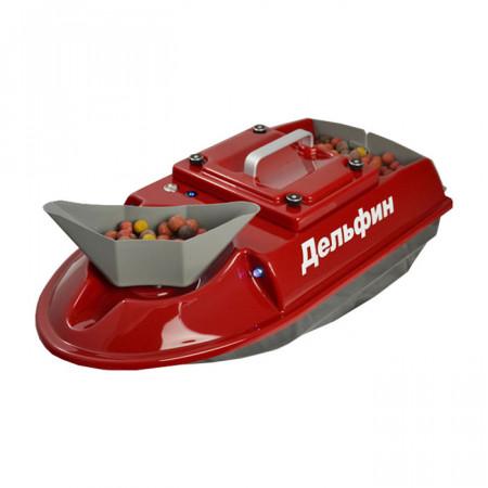 Карповый кораблик для рыбалки Дельфин-8 с вертушкой для дополнительного кормового пятна