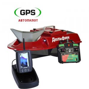 Кораблик для прикормки Дельфин-8 с эхолотом Toslon TF500 и GPS
