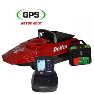 Кораблик Дельфин-10 эхолот Lucky FF918 + GPS