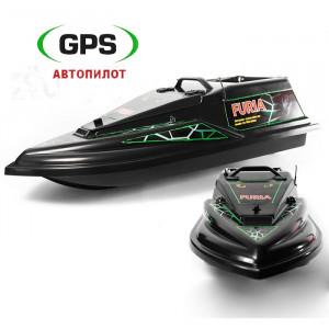 Кораблик Фурия Шторм Черный с GPS (4+1)