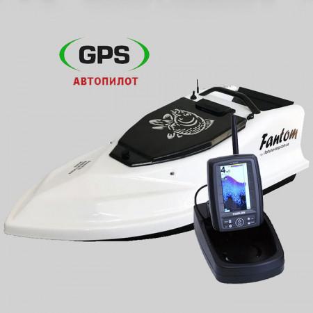 Кораблик для рыбалки Фантом Модерн с эхолотом Toslon TF500 и GPS автопилотом на 8+1точек