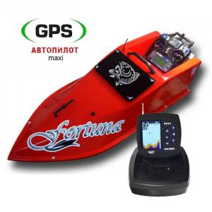 Кораблик Фортуна 27000 с эхолотом Lucky FF918 и GPS Maxi