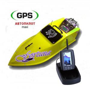 Кораблик Фортуна 15000 с GPS (maxi) и эхолотом Toslon TF500